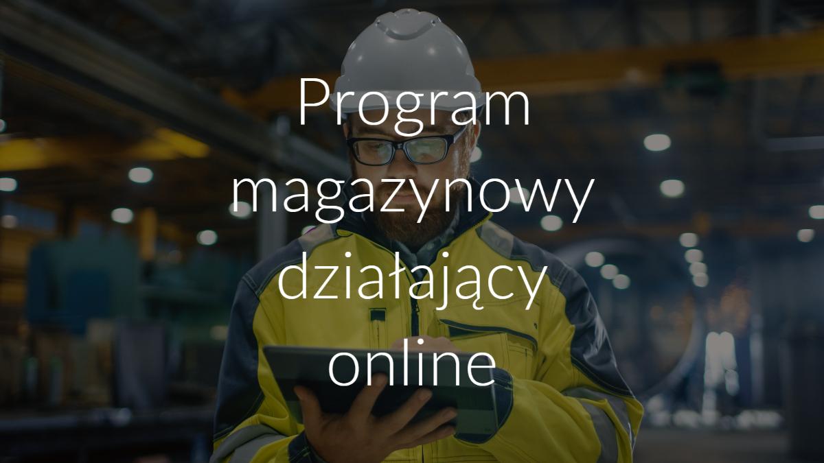 Program magazynowy działający online