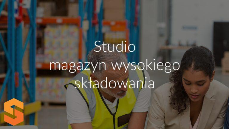 Studio magazyn wysokiego składowania