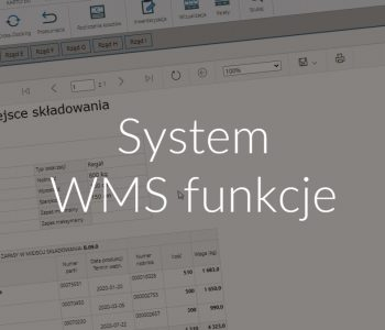 System WMS funkcje