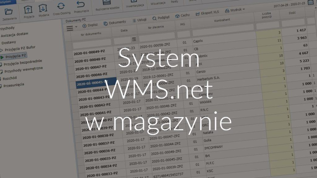 System WMS.net w magazynie