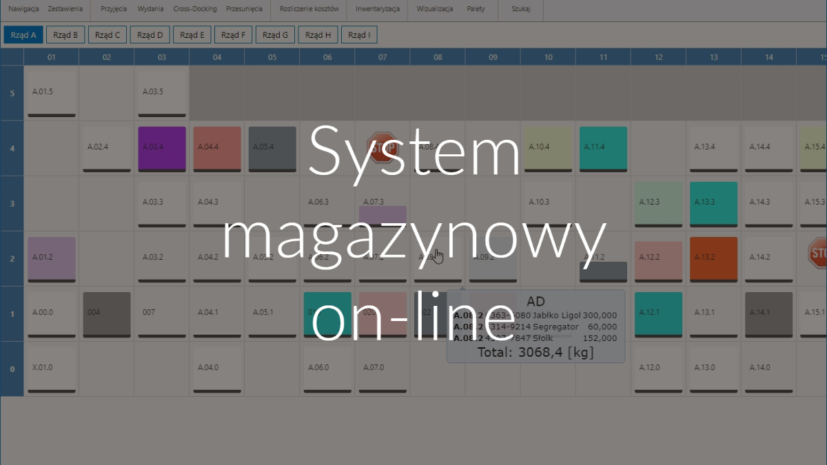 System magazynowy on-line