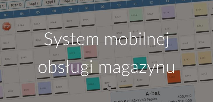 System mobilnej obsługi magazynu