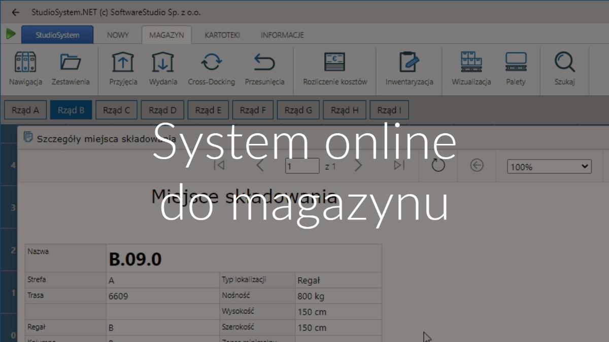 system online do magazynu