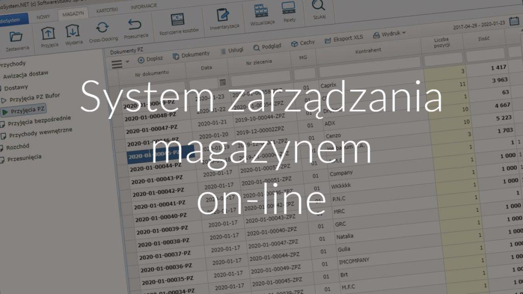 System zarządzania magazynem on-line