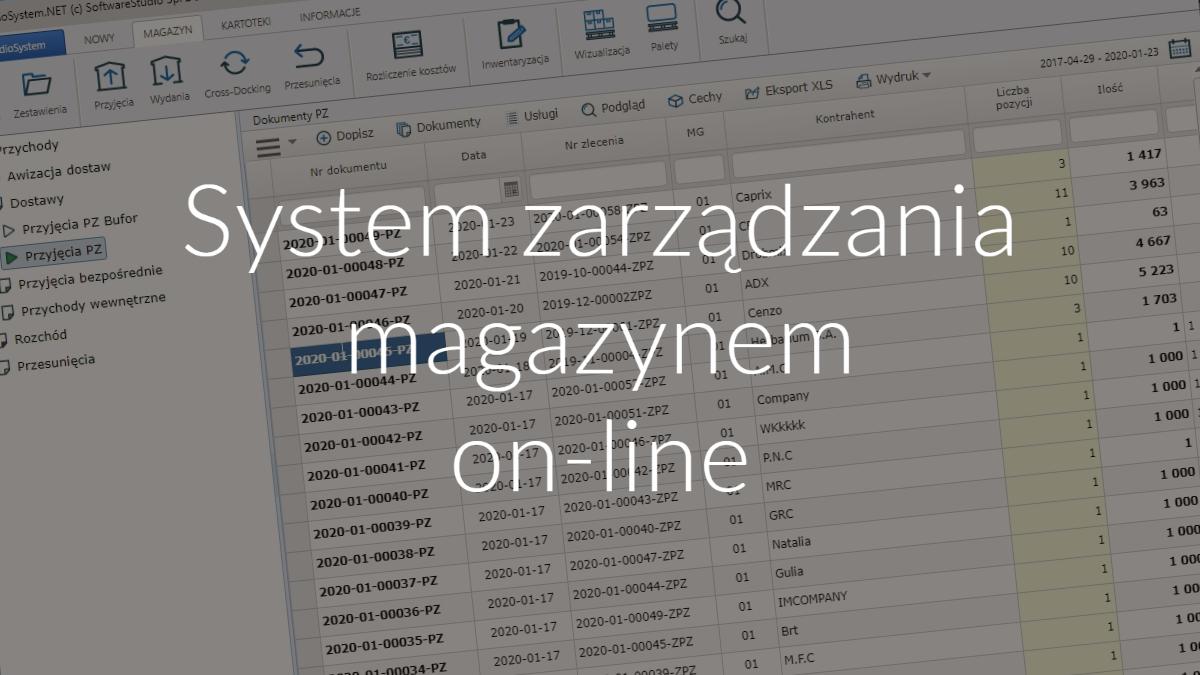 System zarządzania magazynem online