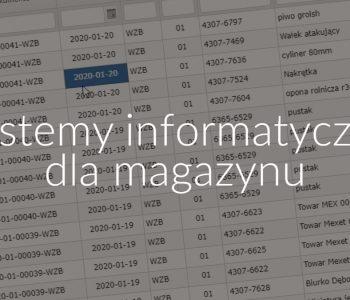 Systemy informatyczne dla magazynu