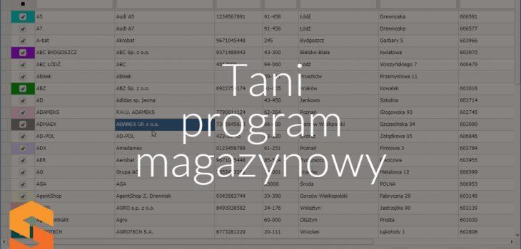 Tani program magazynowy