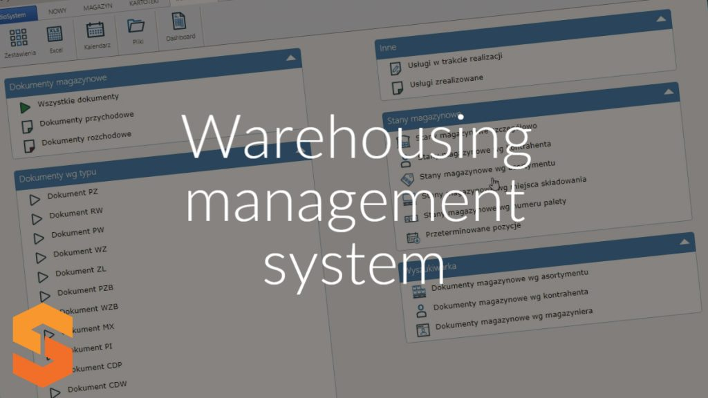 Warehousing management system